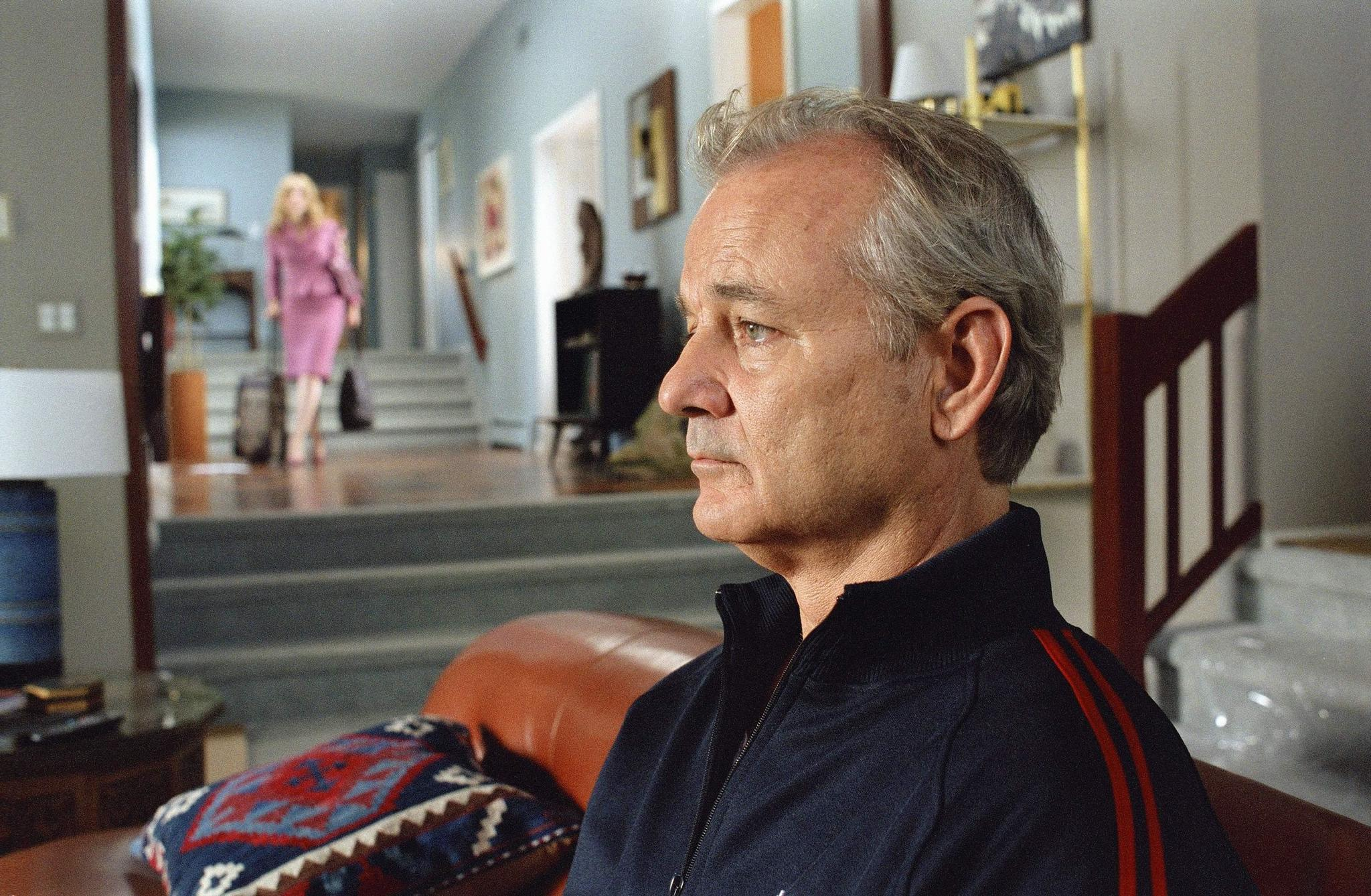Bill Murray and Julie Delpy in Broken Flowers (2005)