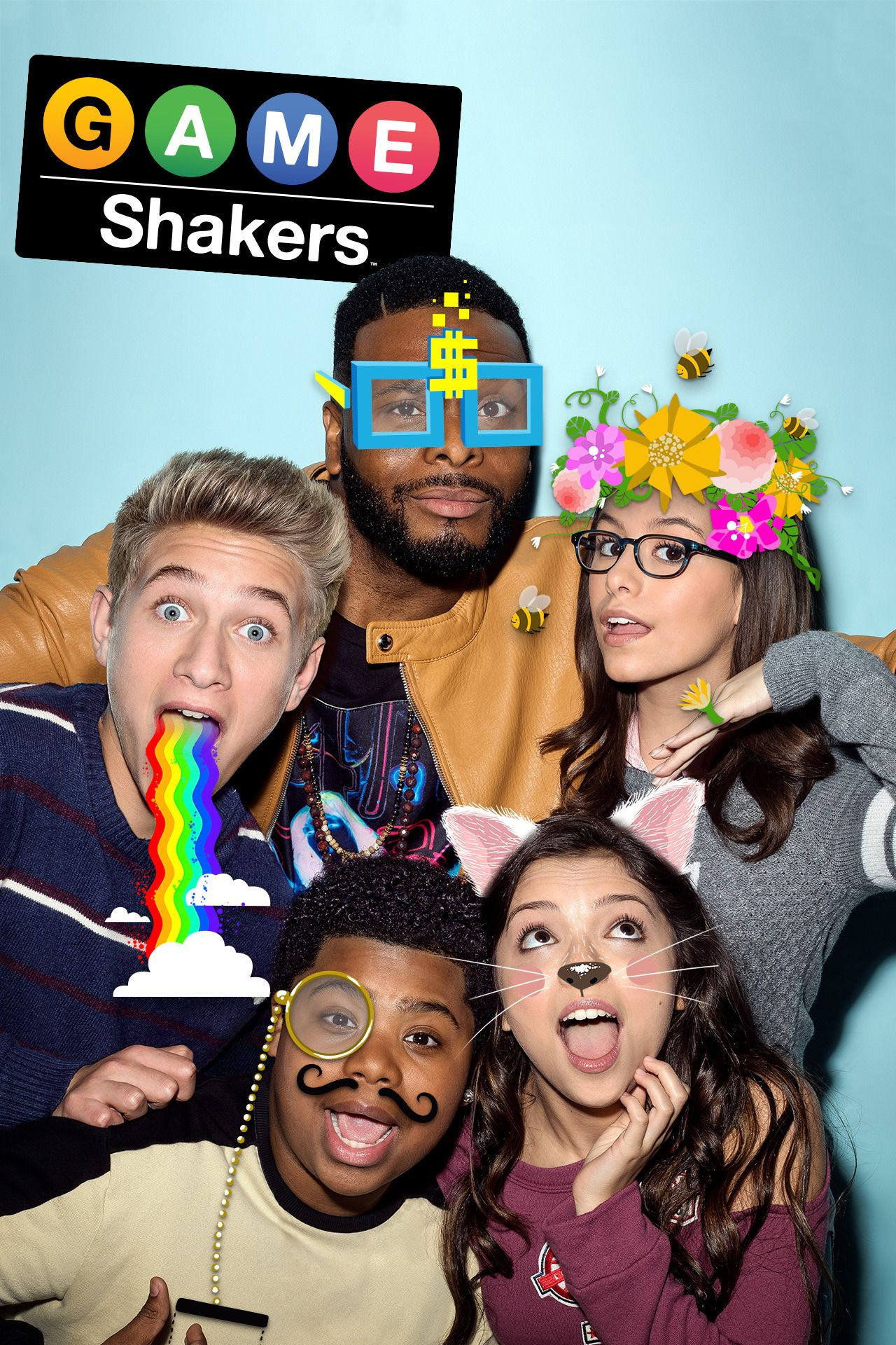 Kel Mitchell, Madisyn Shipman, Benjamin Flores Jr., Thomas Kuc, and Cree Cicchino in Game Shakers (2015)