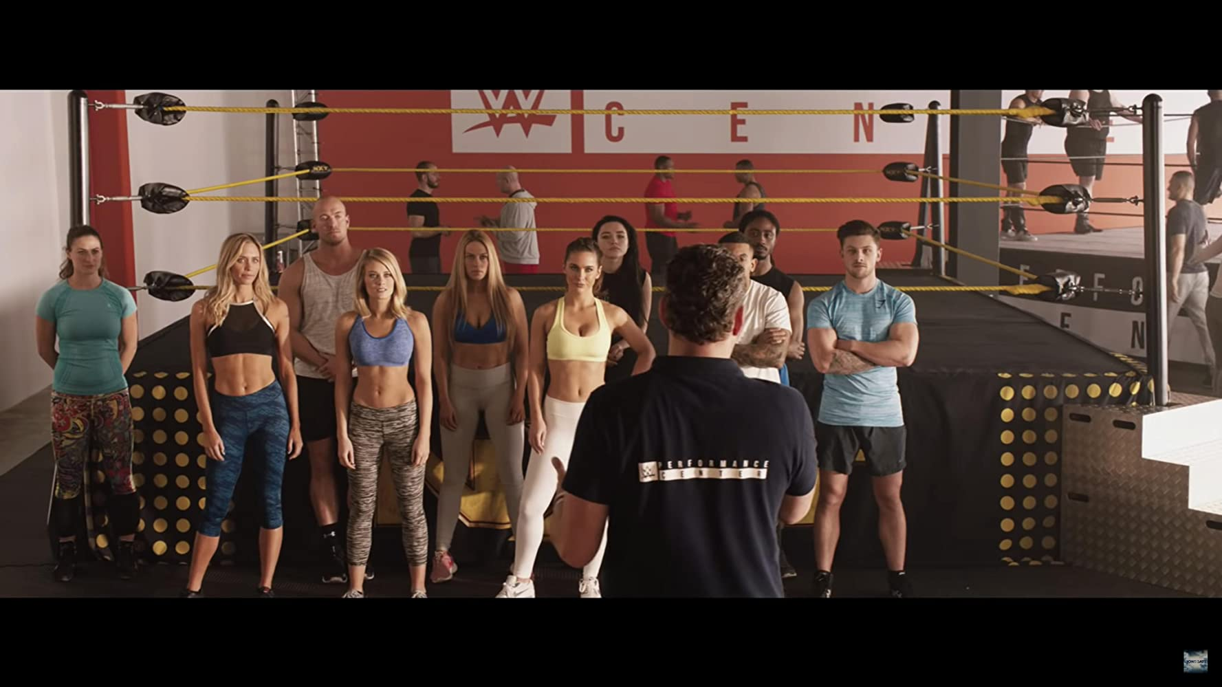 Kim Matula, Ellie Gonsalves, Aqueela Zoll, and Florence Pugh in Fighting with My Family (2019)