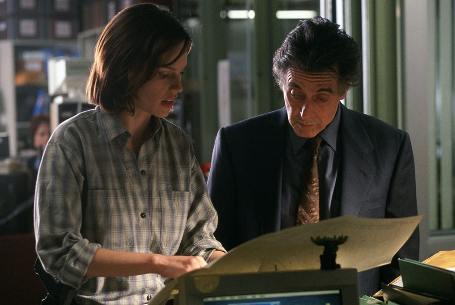 Al Pacino and Hilary Swank in Insomnia (2002)