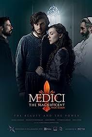 John Lynch, Daniel Sharman, Francesco Montanari, and Synnove Karlsen in Medici (2016)