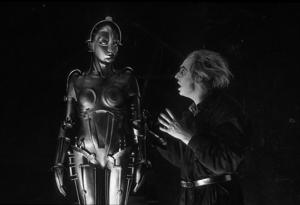 Gustav Fröhlich and Rudolf Klein-Rogge in Metropolis (1927)