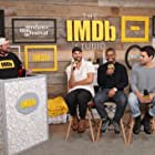 Kevin Smith, Sebastián Silva, Christopher Abbott, and Jason Mitchell at an event for Tyrel (2018)