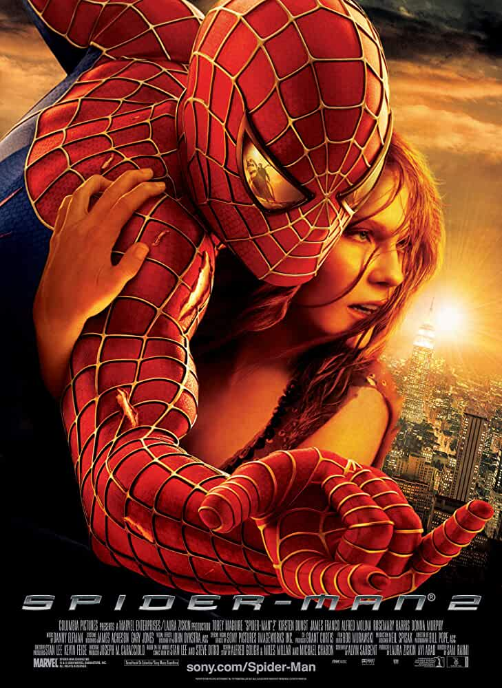 Kirsten Dunst and Tobey Maguire in Spider-Man 2 (2004)