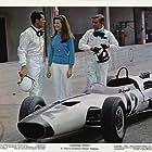 James Garner, Brian Bedford, and Jessica Walter in Grand Prix (1966)