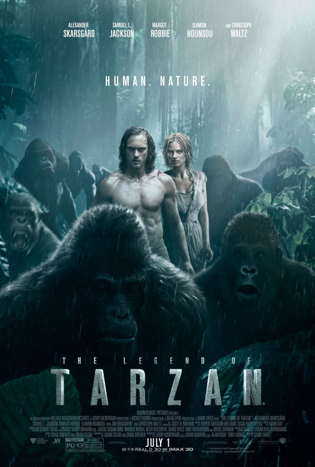 The Legend of Tarzan 2016 Hindi ORG Dual Audio 720p BluRay 800MB Download