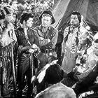 Kirk Douglas, Iron Eyes Cody, Arthur Hunnicutt, Dewey Martin, William Wilkerson, and Theodore Last Star in The Big Sky (1952)