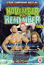 ECW November to Remember 1998 Poster