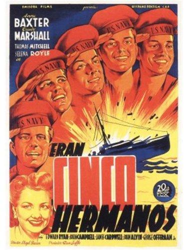 Anne Baxter, John Alvin, John Campbell, James Cardwell, George Offerman Jr., and Edward Ryan in The Sullivans (1944)