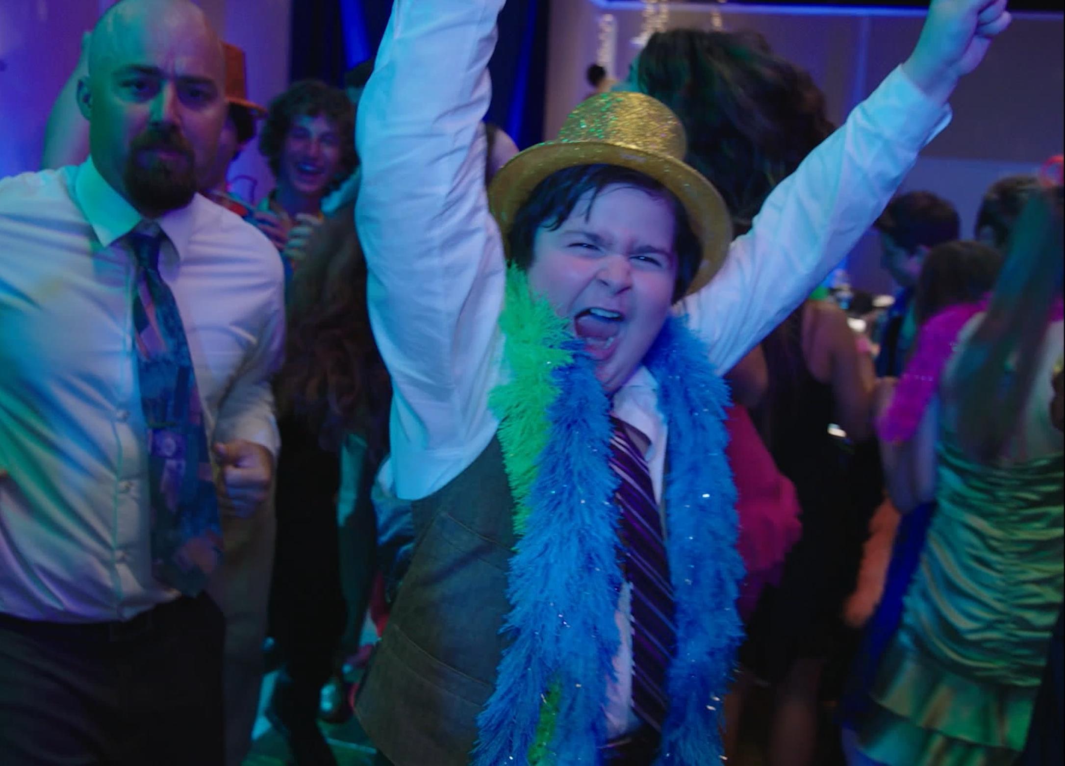 Frank Edward, Steele Stebbins, and Joshua Gonzalez in Donny's Bar Mitzvah (2021)