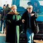 Theodoros Angelopoulos and Jeanne Moreau in To meteoro vima tou pelargou (1991)