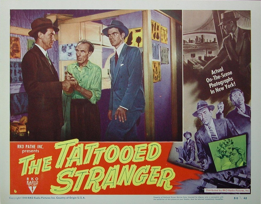 Walter Kinsella and John Miles in The Tattooed Stranger (1950)
