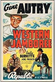 Gene Autry, Smiley Burnette, and Joe Frisco in Western Jamboree (1938)