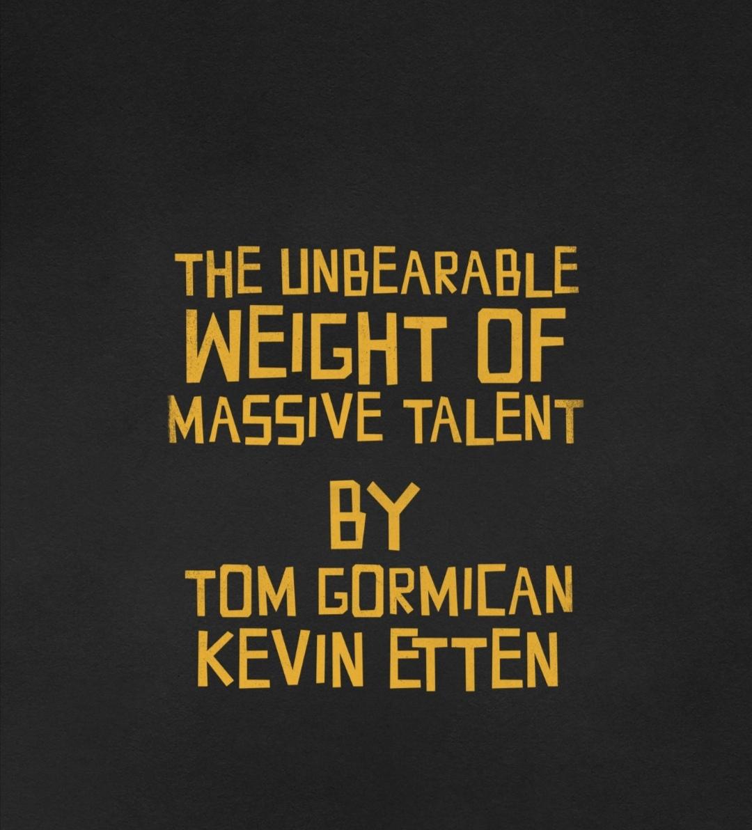 The Unbearable Weight of Massive Talent (2021) - IMDb