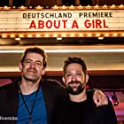Mark Monheim and Martin Rehbock at an event for About a Girl (2014)
