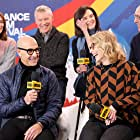 Stanley Tucci, Tate Donovan, Amy Ryan, and Laura Benanti at an event for The IMDb Studio at Acura Festival Village (2020)