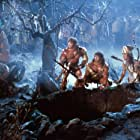 Eva LaRue, David Paul, and Peter Paul in The Barbarians (1987)