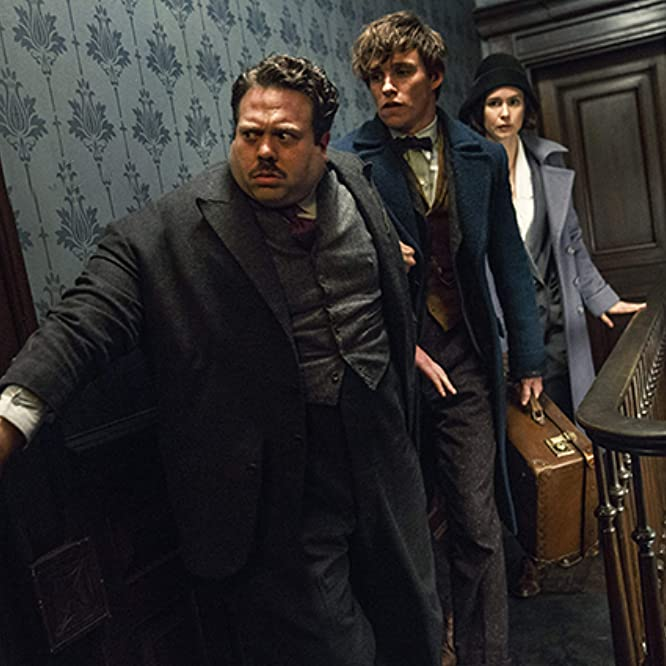 Dan Fogler, Eddie Redmayne, and Katherine Waterston in Fantastic Beasts and Where to Find Them (2016)