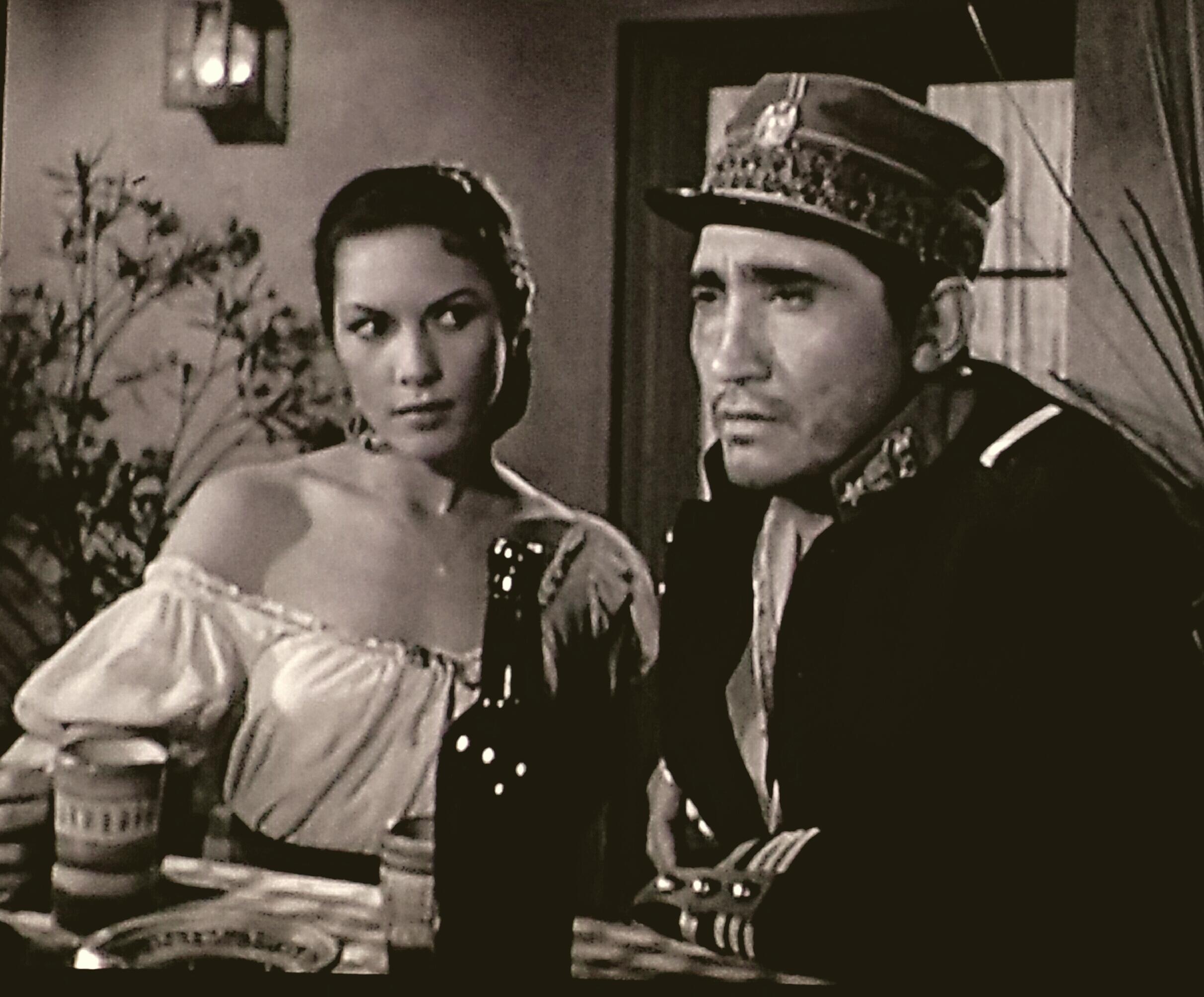 Rodolfo Acosta and Carmen Austin in Cheyenne (1955)