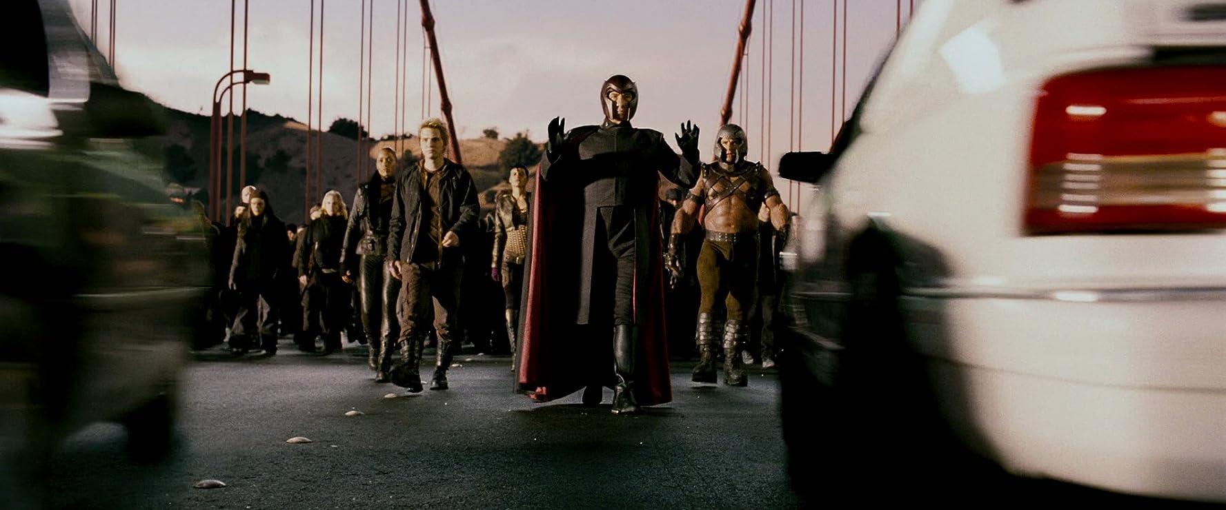Famke Janssen, Vinnie Jones, Ian McKellen, Aaron Stanford, and Omahyra in X-Men: The Last Stand (2006)