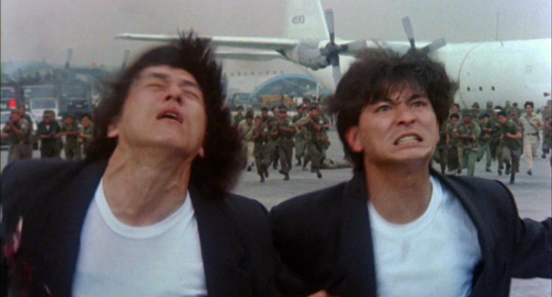 Jackie Chan and Andy Lau in Huo shao dao (1990)