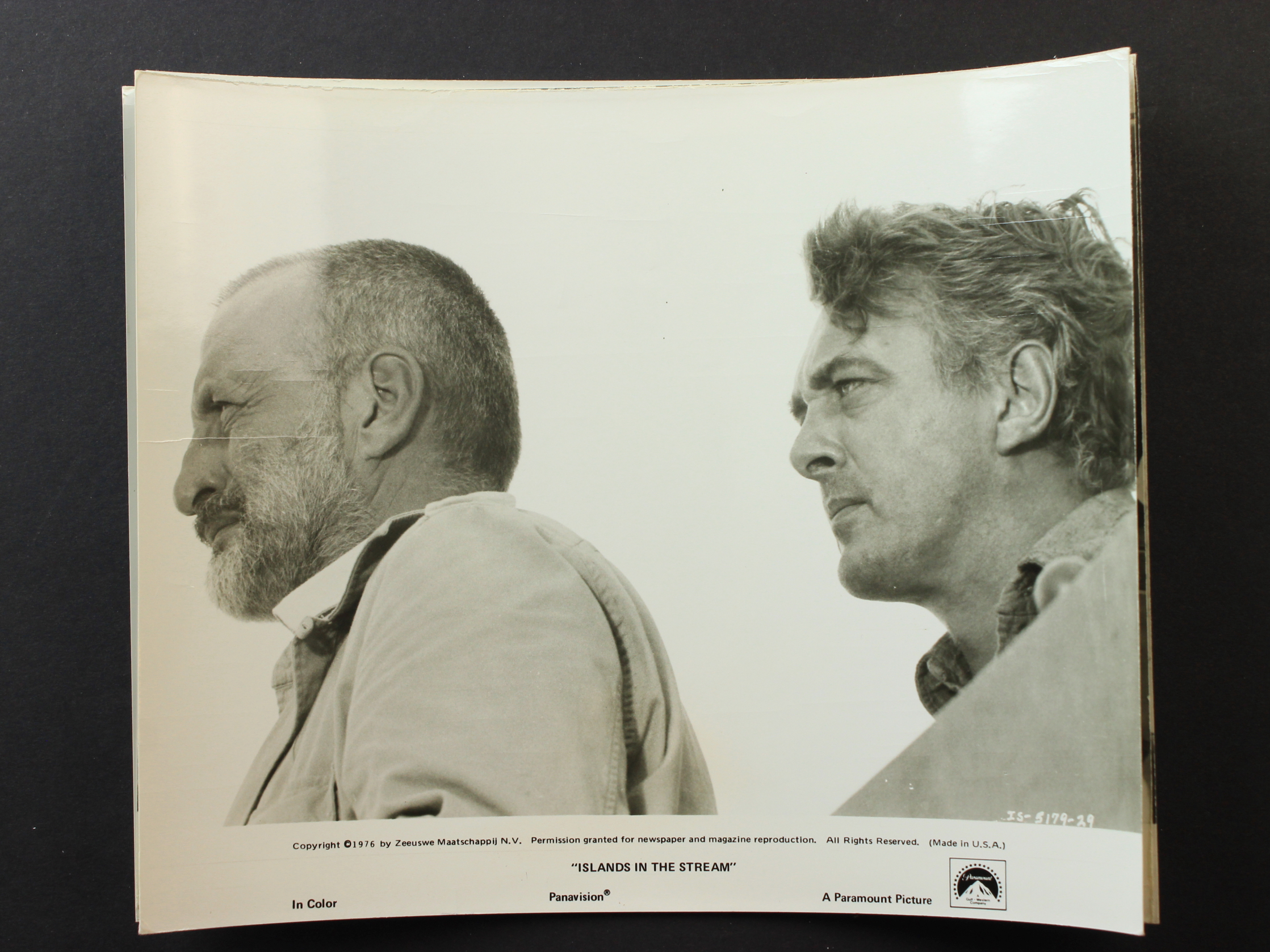 George C. Scott and David Hemmings in Islands in the Stream (1977)