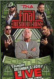 TNA: Final Resolution Poster