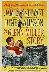 James Stewart, June Allyson, Louis Armstrong, Gene Krupa, and Frances Langford in The Glenn Miller Story (1954)