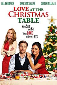 Lea Thompson, Danica McKellar, and Dustin Milligan in Love at the Christmas Table (2012)
