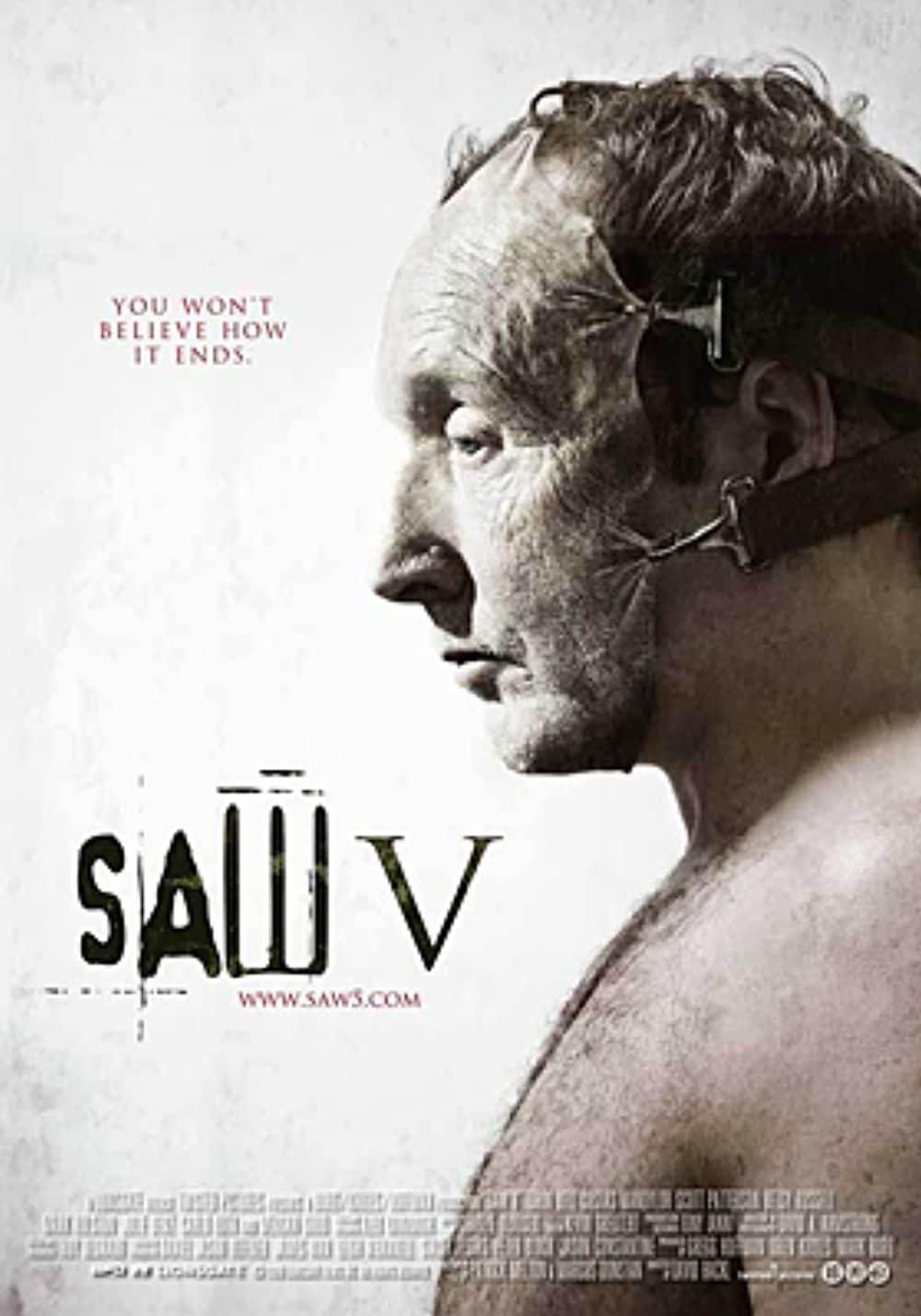 Download Saw V 2008 Hindi Dual Audio 480p UNRATED BluRay ESubs 350MB
