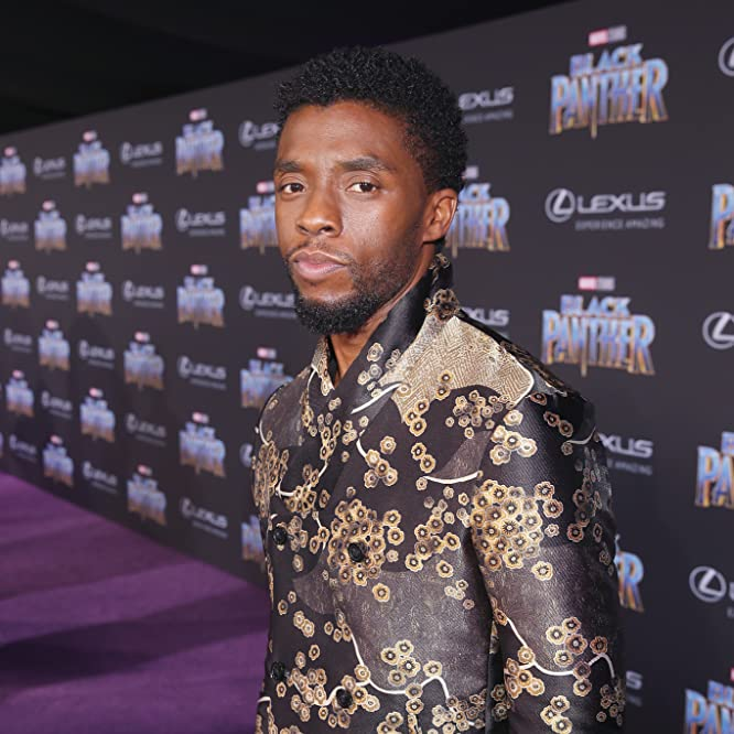 Chadwick Boseman at an event for Black Panther (2018)