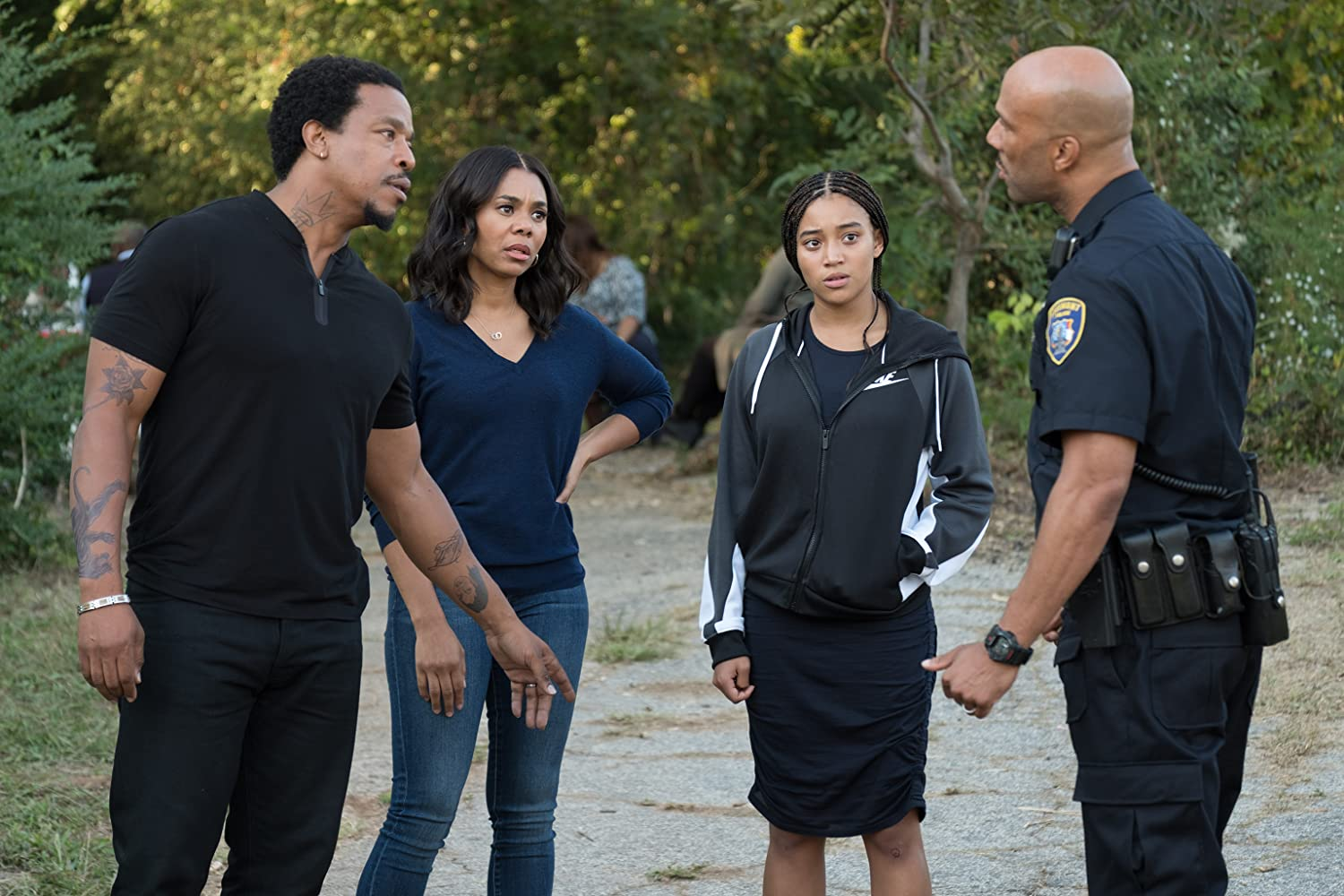 Regina Hall, Russell Hornsby, Common, and Amandla Stenberg in The Hate U Give (2018)