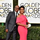 Angela Bassett and Courtney B. Vance at an event for The 74th Annual Golden Globe Awards 2017 (2017)