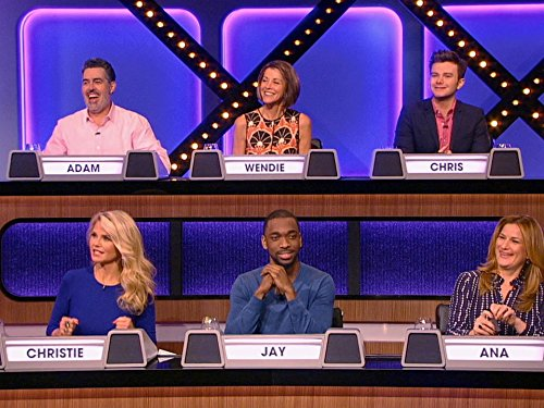 Christie Brinkley, Adam Carolla, Wendie Malick, Ana Gasteyer, Chris Colfer, and Jay Pharoah in Match Game (2016)