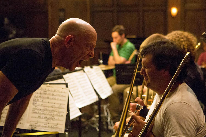 J.K. Simmons and C.J. Vana in Whiplash (2014)