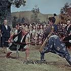 Toshirô Mifune, Kokuten Kôdô, and Kichijirô Ueda in Miyamoto Musashi kanketsuhen: kettô Ganryûjima (1956)