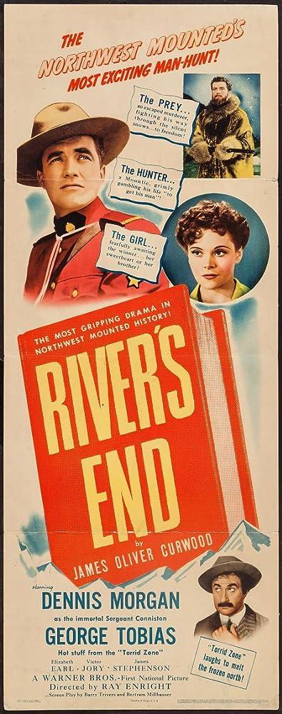 Elizabeth Inglis, Dennis Morgan, and George Tobias in River's End (1940)