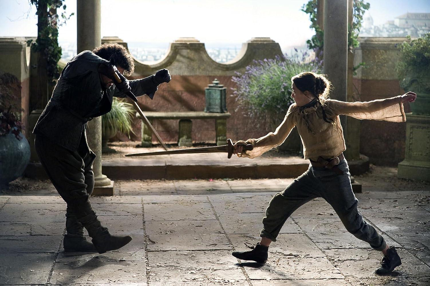 Miltos Yerolemou and Maisie Williams in Game of Thrones (2011)