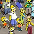 Hank Azaria, Julie Kavner, Nancy Cartwright, Dan Castellaneta, and Yeardley Smith in The Simpsons Movie (2007)