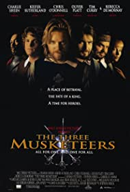 Charlie Sheen, Tim Curry, Rebecca De Mornay, Chris O'Donnell, Kiefer Sutherland, and Oliver Platt in The Three Musketeers (1993)