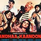 Amitabh Bachchan, Hema Malini, Prem Chopra, Rajinikanth, and Reena Roy in Andhaa Kaanoon (1983)