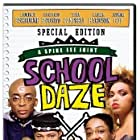 Laurence Fishburne, Spike Lee, Giancarlo Esposito, and Tisha Campbell in School Daze (1988)