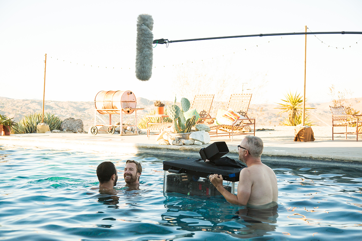 Aaron Costa Ganis and Lucas Near-Verbrugghe star in LAZY EYE, directed by Tim Kirkman, seen here operating the camera.