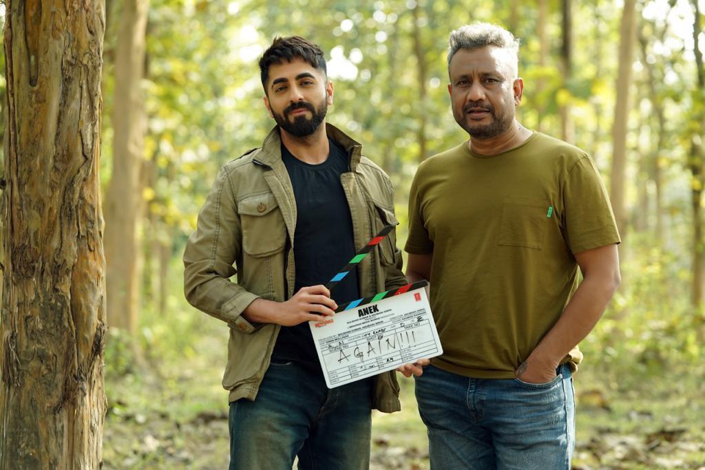 Anubhav Sinha and Ayushmann Khurrana in Anek (2021)