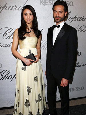 Omar Metwally and Tang Wei, recipients of the 2008 Chopard Trophy presented at the Cannes Film Festival.