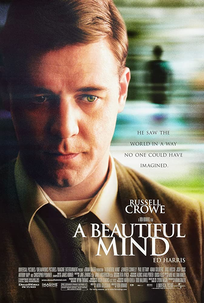 A Beautiful Mind 2001 Dual Audio Hindi ORG 500MB BluRay 480p ESubs Download