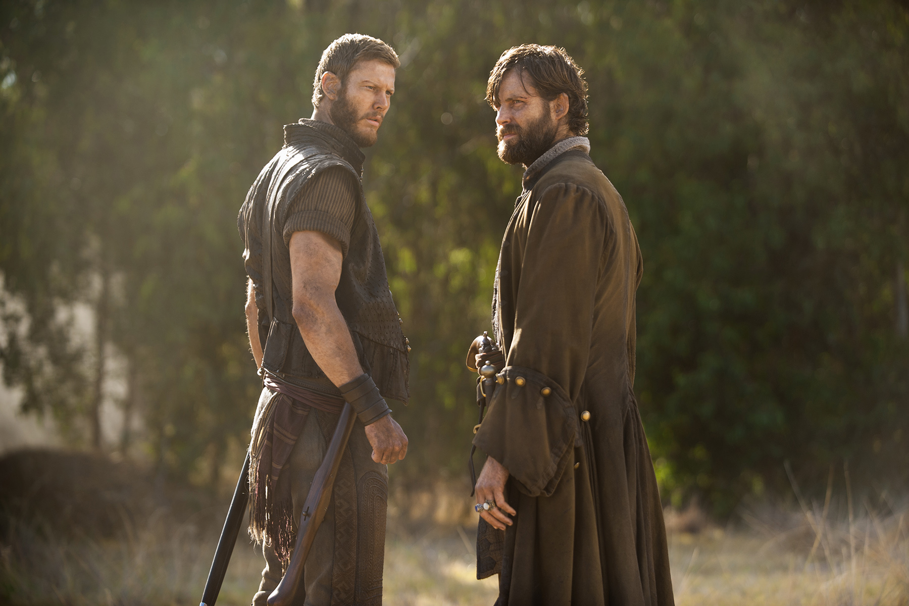 Tom Hopper and Aidan Whytock in Black Sails (2014)