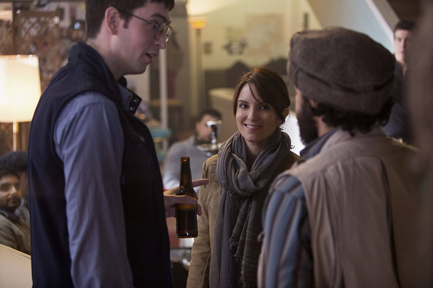 Tina Fey, Nicholas Braun, and Christopher Abbott in Whiskey Tango Foxtrot (2016)