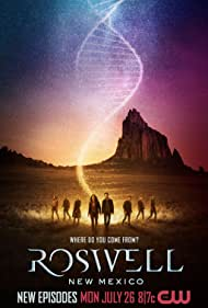 Nathan Parsons, Amber Midthunder, Michael Trevino, Heather Hemmens, Tyler Blackburn, Jeanine Mason, Michael Vlamis, and Lily Cowles in Roswell, New Mexico (2019)