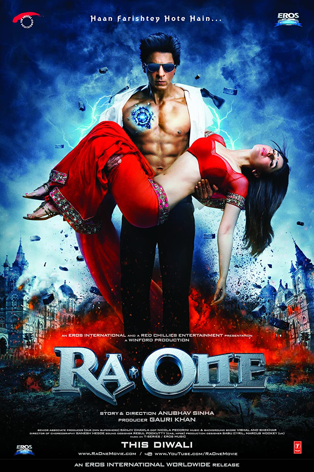 Ra One 2011 Hindi Movie 500MB BluRay 480p ESubs Free Download